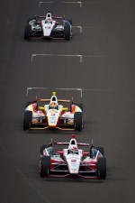 Ryan Briscoe, Team Penske Chevrolet, Helio Castroneves, Team Penske Chevrolet, Will Power, Verizon Team Penske Chevrolet