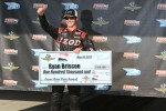 Pole winner Ryan Briscoe, Team Penske Chevrolet