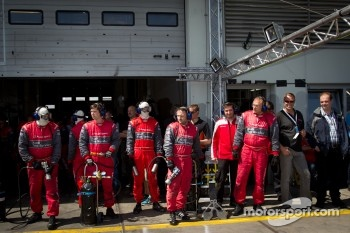 Audi Sport Team Phoenix team members ready for a pitstop