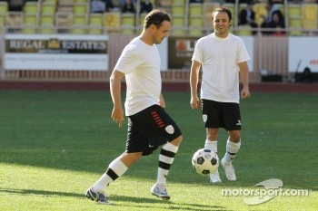 Felipe Massa, Ferrari watches his brother Dudu play iin the charity football match