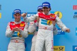 Podium: race winners Marc Basseng, Christopher Haase and Markus Winkelhock