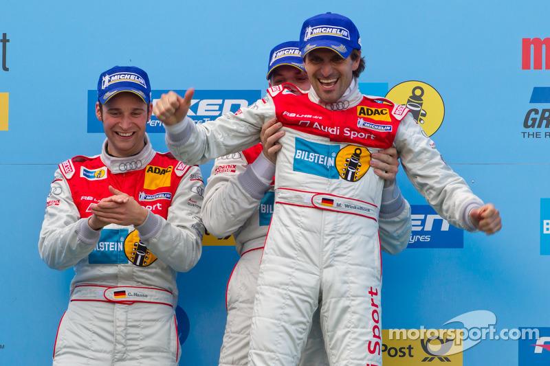 Podium: race winners Marc Basseng, Christopher Haase and Markus Winkelhock
