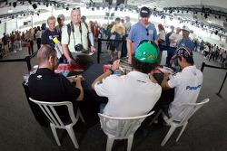 EJ Viso, KV Racing Technology Chevrolet, Michel Jourdain, Rahal Letterman Lanigan Honda and Takuma Sato, Rahal Letterman Lanigan Honda