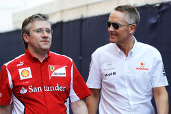 Pat Fry, Scuderia Ferrari Deputy Technical Director and Head of Race Engineering with Martin Whitmarsh, McLaren Mercedes Chief Executive Officer