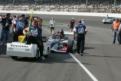 Indy two seater is placed on pit lane