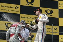 Podium, Martin Tomczyk, BMW Team RMG BMW M3 DTM and Edoardo Mortara, Audi Sport Team Rosberg Audi A5 DTM