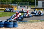 Drivers and media kart challenge at Circuit Alain Prost