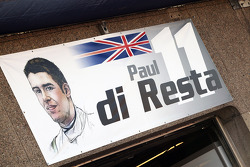 Pit garage sign for Paul di Resta, Sahara Force India F1