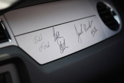 Pace car drivers' signatures