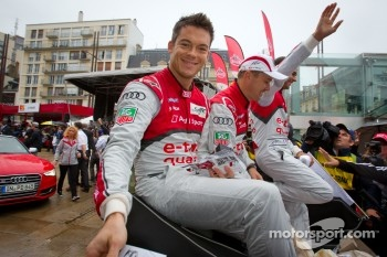 Andre Lotterer, Marcel Fässler and Benoit Tréluyer