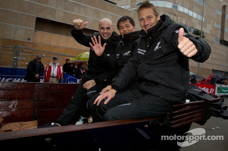 Marino Franchitti, Satoshi Motoyama and Michael Krumm