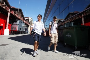 Kamui Kobayashi, Sauber in the paddock