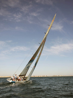 Sahara Force India F1 Team on the Aethra America's Cup Boat