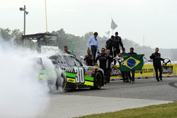 Race winner Nelson Piquet Jr. celebrates