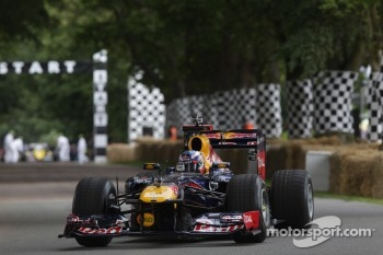 Daniel Ricciardo drives the Red Bull F1
