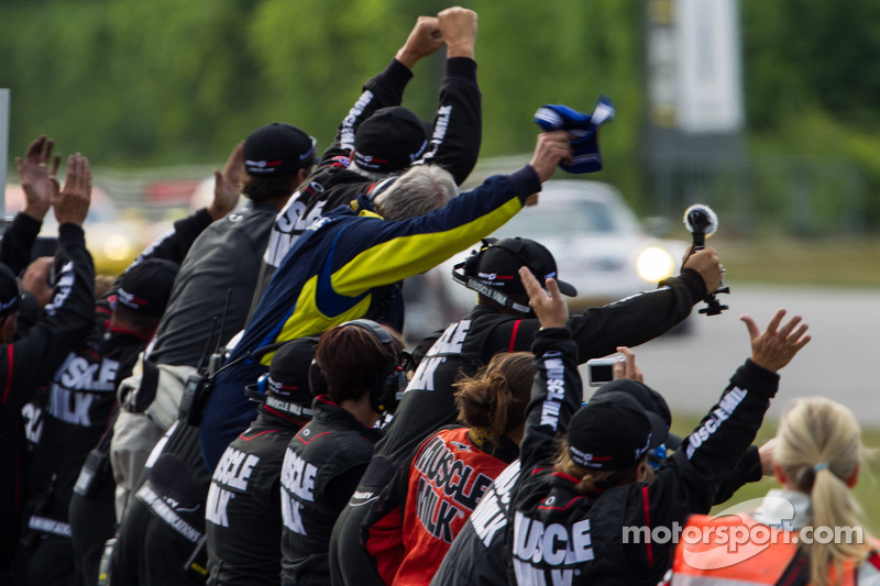 Muscle Milk takes the  win for P1
