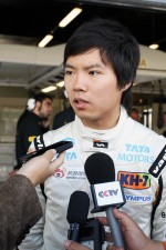 Ma Qing Hua, Hispania Racing F1 Team, Test Driver with the media