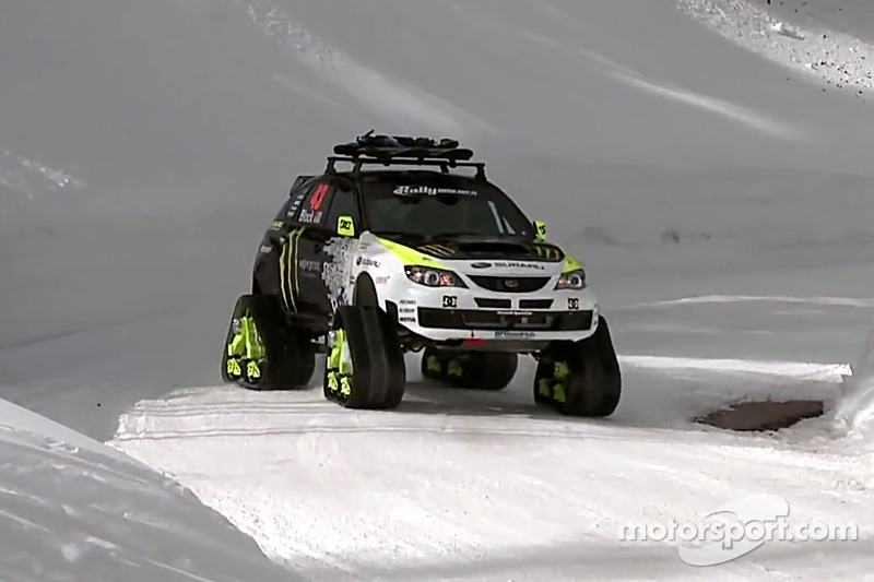 Ken Block drives the Trax Sti