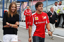 Fernando Alonso, Scuderia Ferrari with his new girlfriend Dasha Kapustina