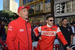 Autograph session, Gabriele Tarquini, SEAT Leon WTCC, Lukoil Racing Team and Alexey Dudukalo, SEAT Leon WTCC, Lukoil Racing Team