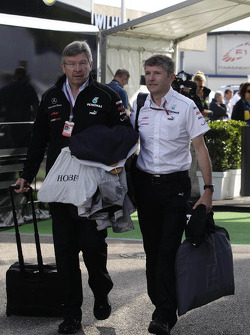 Ross Brawn, Mercedes GP, Technical Director and Nick Fry, Chief Executive Officer, Mercedes GP
