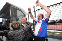 Jenzer Motorsport team members celebrate