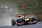 Mark Webber, Red Bull Racing in the wet