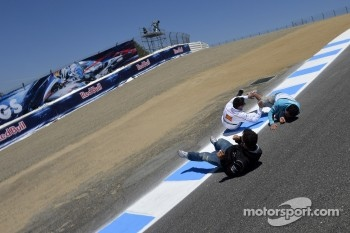 Michele Pirro, Honda Gresini and friends roll down the corkscrew