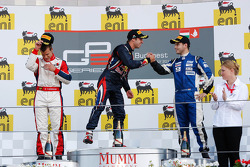 Podium: race winner Antonio Felix da Costa, second place Patric Niederhauser, third place Tamas Pal Kiss