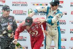 Simon Pagenaud tries to cool off Scott Dixon