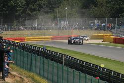 In the gravels, #98 JB Motorsport Audi R8 LMS: Jan Brunstedt, Mikael Bender, Jocke Mangs