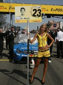 Grid girl of Roberto Merhi, Persson Motorsport AMG Mercedes C-Coupe