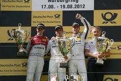 Podium, 2nd Edoardo Mortara, Audi Sport Team Rosberg Audi A5 DTM, 1st Bruno Spengler, BMW Team Schnitzer BMW M3 DTM, 3rd Martin Tomczyk, BMW Team RMG BMW M3 DTM, Charly Lamm, Teammanager BMW Team Schnitzer