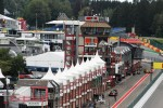 The support race pit lane looking back from Eau Rouge