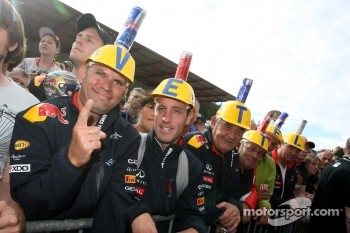 Fans of Sebastian Vettel, Red Bull Racing