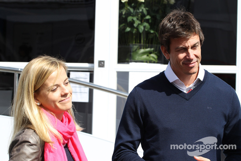 Susie Wolff, Williams Test Driver with Toto Wolff, Williams Executive Director