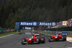 Charles Pic, Marussia F1 Team and team mate Timo Glock, Marussia F1 Team