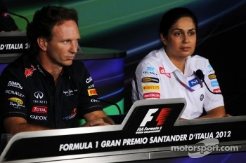 FIA press conference: Christian Horner, Red Bull Racing Team Principal and Monisha Kaltenborn, Sauber Managing Director