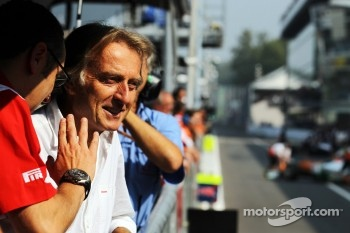 Luca di Montezemolo, Ferrari President with Stefano Domenicali, Ferrari General Director