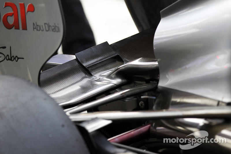 Michael Schumacher, Mercedes AMG F1 rear wing detail