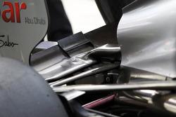 Michael Schumacher, Mercedes AMG F1 rear wing detail