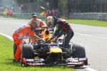 Sebastian Vettel, Red Bull Racing retired from the race in the closing stages