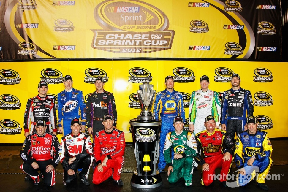The 2012 field of Chase for the Sprint Cup drivers