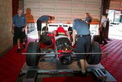 Dale Coyne Racing Honda garage area