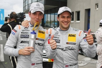 Jamie Green, Team HWA AMG Mercedes, AMG Mercedes C-Coupe and Gary Paffett, Team HWA AMG Mercedes, AMG Mercedes C-Coupe