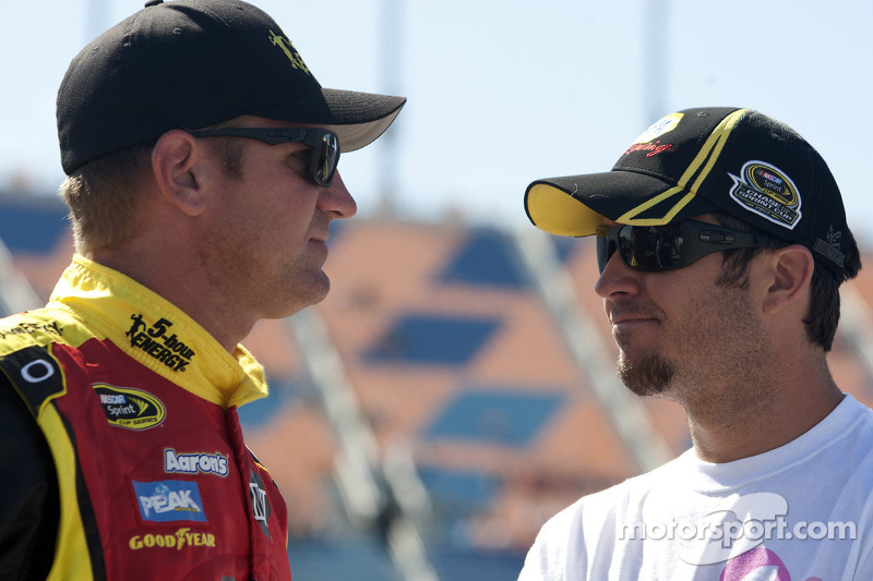 Clint Bowyer and Martin Truex Jr.