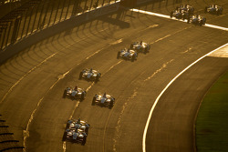 Tony Kanaan, KV Racing Technology Chevrolet leads the field