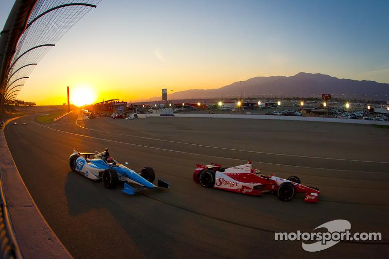 Justin Wilson, Dale Coyne Racing Honda, Simon Pagenaud, Schmidt/Hamilton Motorsports Honda
