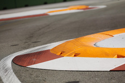 Kerbing at the chicane