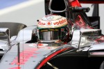 Lewis Hamilton, McLaren with new helmet livery